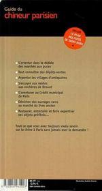 Guide Du Chineur Parisien - 4ème de couverture - Format classique