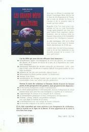 Les grands défis du 3e millénaire - 4ème de couverture - Format classique
