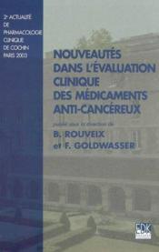 Nouveautés dans l'évaluation clinique des médicaments anti-cancéreux - Couverture - Format classique