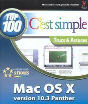 Mac os x panther 10.3, top 100 c'est simple - Intérieur - Format classique