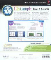 Mac os x panther 10.3, top 100 c'est simple - 4ème de couverture - Format classique