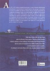 Identites franciscaines a l'age des reformes (édition 2005) - 4ème de couverture - Format classique