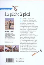 Tout Savoir Sur La Peche A Pied - 4ème de couverture - Format classique