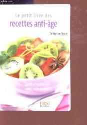 Le petit livre de - recettes anti-age - Couverture - Format classique