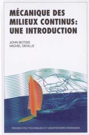 Mecanique des milieux continus une introduction - Couverture - Format classique