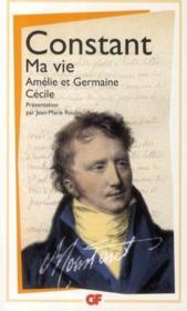 Ma vie ; Amélie et Germaine ; Cécile - Couverture - Format classique