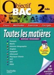 telecharger Objectif Bac – Toutes Les Matieres – 2nde livre PDF/ePUB en ligne gratuit