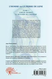 L'Homme Ou La Pierre De Lune - Tome 3 - 4ème de couverture - Format classique