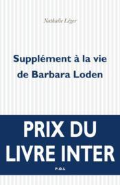 Supplément à la vie de Barbara Loden - Couverture - Format classique