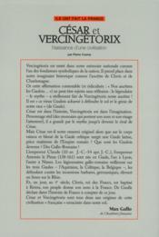 César et Vercingétorix ; naissance d'une civilisation - 4ème de couverture - Format classique