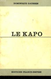 Le Kapo. - Couverture - Format classique