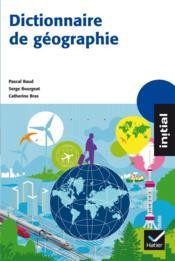Dictionnaire de géographie - Couverture - Format classique