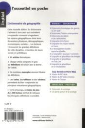 Dictionnaire de géographie - 4ème de couverture - Format classique