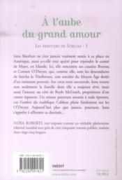 Les héritiers de Sorcha t.1 ; à l'aube du grand amour - 4ème de couverture - Format classique