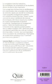 Le marché aux connaissances ; néolibéralisme, ensignement et recherche - 4ème de couverture - Format classique