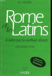 Rome Et Les Latins - Deuxieme Livre - Couverture - Format classique