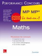 PERFORMANCE CONCOURS ; mathématiques ; 2e année MP MP - Couverture - Format classique