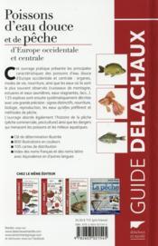 Poissons d'eau douce et de pêche d'Europe occidentale et centrale - 4ème de couverture - Format classique