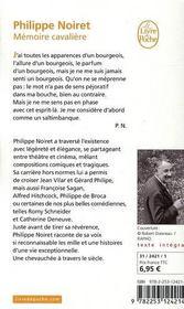 Mémoire cavalière - 4ème de couverture - Format classique