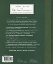 Le petit larousse de la pêche en eau douce - 4ème de couverture - Format classique