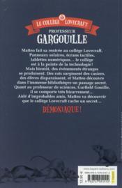 Le collège Lovecraft t.1 ; professeur Gargouille - 4ème de couverture - Format classique