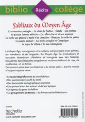 Fabliaux du Moyen Âge - 4ème de couverture - Format classique