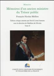 Mémoires d'un ancien ministre du Trésor public t.2 - Couverture - Format classique