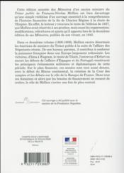 Mémoires d'un ancien ministre du Trésor public t.2 - 4ème de couverture - Format classique