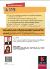 La GPEC ; construire une démarche de gestion prévisionnelle des emplois et des compétences (3e édition) - 4ème de couverture - Format classique