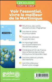GEOguide coups de coeur ; Martinique - 4ème de couverture - Format classique