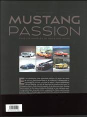 Mustang passion ; tous les modèles de 1964 à nos jours - 4ème de couverture - Format classique