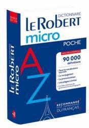 Dictionnaire Le Robert micro - Couverture - Format classique