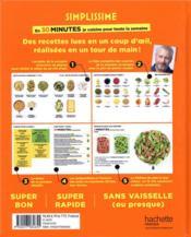 Simplissime ; en 30 minutes, je cuisine pour toute la semaine - 4ème de couverture - Format classique