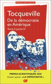 De la démocratie en Amérique t.2, partie 4 - Couverture - Format classique