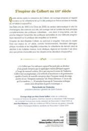 Colbert ; une source d'inspiration pour les décideurs d'aujourd'hui - 4ème de couverture - Format classique
