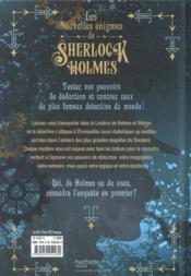 Les nouvelles énigmes de Sherlock Holmes - 4ème de couverture - Format classique