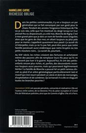 Richesse oblige - 4ème de couverture - Format classique