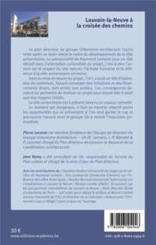 Louvain-la-Neuve à la croisée des chemins - 4ème de couverture - Format classique