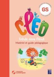 CLEO ; entrée dans l'écrit ; grande section ; guide pédagogique ; 160 pages cartonnées prédécoupées (édition 2020) - Couverture - Format classique