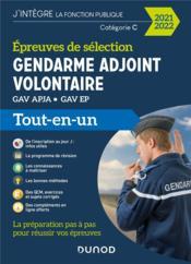 Gendarme adjoint volontaire ; épreuves de sélection ; GAV APJA, GAV EP ; tout-en-un (édition 2021/2022) - Couverture - Format classique