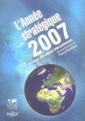 L'année stratégique 2007 ; analyse des enjeux internationaux - Intérieur - Format classique