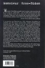 Monsieur Gros-Bidon - 4ème de couverture - Format classique