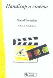 Handicap Et Cinema - Couverture - Format classique