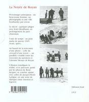 La Noyee De Royan - 4ème de couverture - Format classique