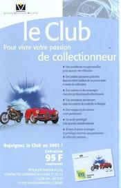 La cote de l'automobile de collection (édition 2001) - 4ème de couverture - Format classique