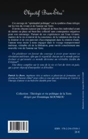 Objectif bien-être - 4ème de couverture - Format classique