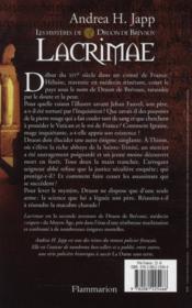 Les mystères de Druon de Brevaux t.2 ; lacrimae - 4ème de couverture - Format classique