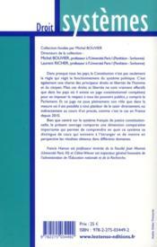 La justice constitutionnelle en France et à l'étranger - 4ème de couverture - Format classique