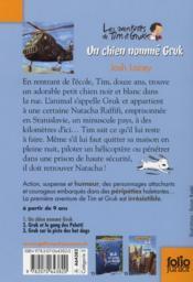Un chien nomme Grük - 4ème de couverture - Format classique