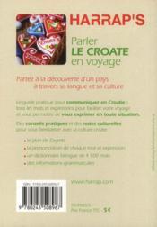 Parler le croate en voyage - 4ème de couverture - Format classique